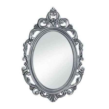 Silver Wall Mirrors Decorative - bathroom wall mirrors decorative oval rustic silver royal