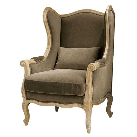 fauteuil bergere maison du monde fauteuil berg 232 re en coton taupe manoir maisons du monde