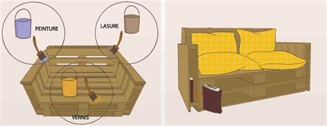 plan canapé en palette fabriquer un canapé en palette canapé