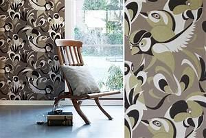 papiers peints pour un salon vintage blog au fil des With couleur pour un salon 2 papiers peints pour une chambre scandinave blog au fil