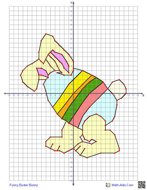 quadrant graphing worksheets  easter math aids