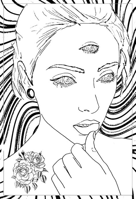 rose coloring pages  adults