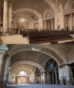 Detroit Train Station Then and Now