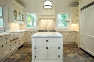 kitchen floor ideas with white cabinets indelink