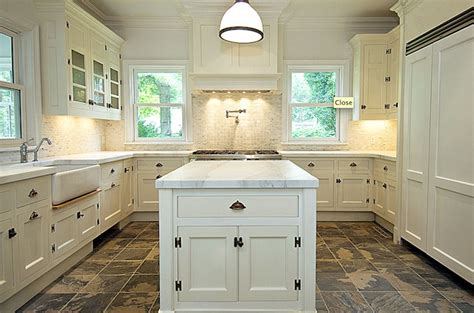 white cabinets tile floor u shaped kitchen design ideas 349 | 0b4254e22076