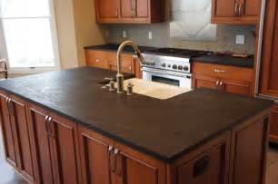 Soapstone Island Countertop by Wonderful Concept Of Soapstone Kitchen Island Design