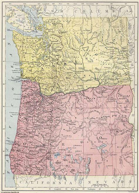 Map Of Washington Oregon | Emaps World