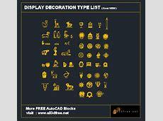 AutoCAD Block Display Decoration Collection 001