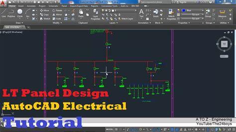 Single Line Diagram Autocad Lt by Lt Panel Design With Autocad Electrical Single Line
