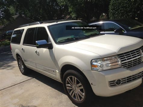2007 Lincoln Navigator Suv White 20 Chrome Wheels No Smoking