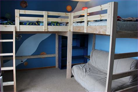 diy loft bed with desk diy l shaped loft bed with desk room decors and design