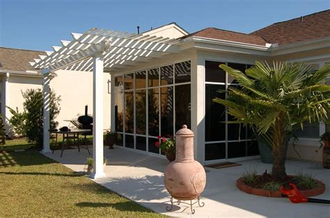 Attached Sunroom by Pergola Attached To House Photos