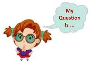 Cartoon Girl Asking Questions