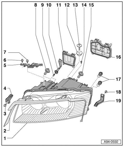 2005 d3 headlight exploded diagram audiworld forums