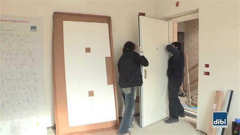 Come Montare Porte Interne montaggio anta su telaio di bi porte blindate