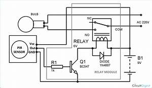 Circuit Diagram For Automatic Room Lights Using Pir Sensor And Relay