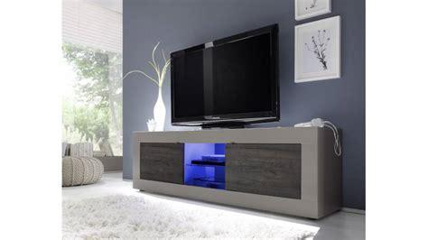 armoire de bureaux meuble tv design lumineux en beige mat et wenghé meuble
