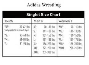 Adidas Wrestling Singlet Size Chart