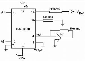 A Dac0808 Circuit With Op