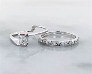 diamond white gold wedding ring set interlocking With interlocking wedding ring sets