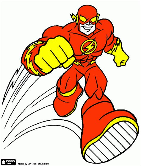 The Flash Coloring Page, Printable The Flash