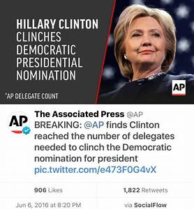 BREAKING: Hillary Clinton wins Democratic nomination for ...