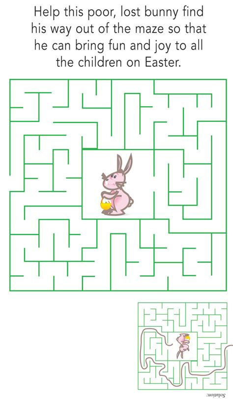 easter bunny maze easter easter special section