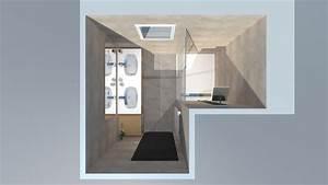 salle de bain bois beige blanc gris avec douche italienne With salle de bain beige et bois