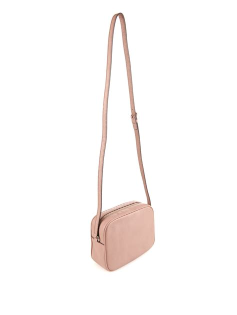 Gucci Soho Leather Cross-Body Bag in Pink | Lyst