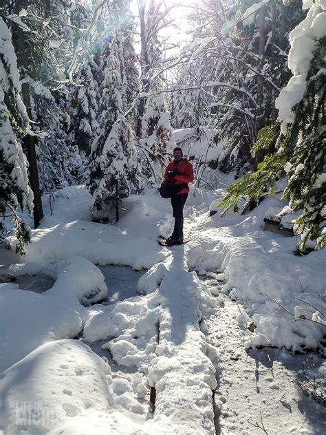 snowshoeing   michigans upper peninsula life  michigan