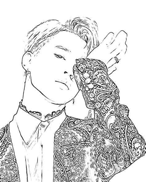 bts coloring pages kpop amino jeffersonclan