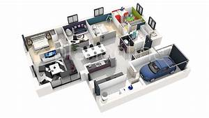 plan de maison en 3d plan de maison en 3d gratuit plan With maison de 100m2 plan 0 architouch 3d pour ipad dessinez vos plans de maison