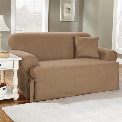 Slip Covers by Sure Fit Cotton Duck T Cushion Sofa Slipcover Sofa