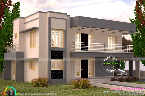 3005 square feet flat roof house plan kerala home design and floor plans