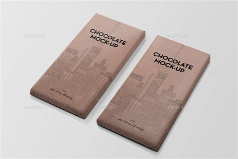 Chocolate bar, white polyethylene packaging. Packaging Chocolate Mock-Up by PuzzlerBox | GraphicRiver