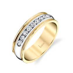 yellow and white gold wedding bands husar 39 s house of diamonds 14kt white and yellow gold 39 s wedding ring with