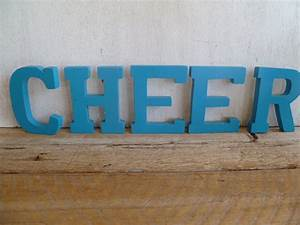 wood cheer sign letters wall art With cheer letter signs