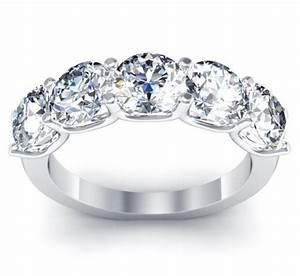 63 best 5 stone diamond ring settings images on pinterest With 5 year wedding anniversary ring