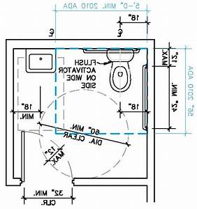 Ada bathroom size home design plan for Ada requirements for bathroom grab bars