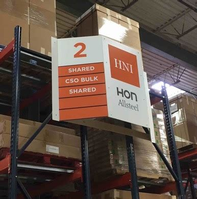 custom warehouse aisle signs changeable pallet racking