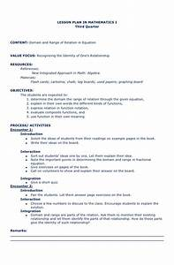 lesson plan in math With algebra lesson plan template