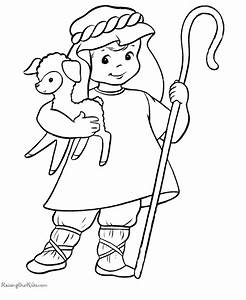 Sheep And Shepherd Coloring Pages - Coloring Home