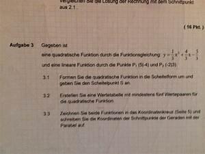 Schnittpunkte Mit Koordinatenachsen Berechnen : quadratische funktion in scheitelpunktform bringen und ~ Themetempest.com Abrechnung