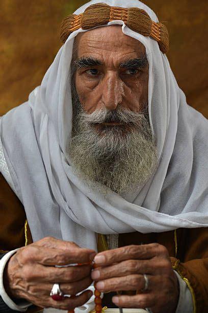 arabic man portrait  traditional clothes stock