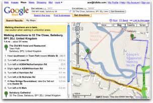 Google Maps Walking Directions