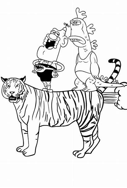 Grandpa Uncle Coloring Flying Tiger Realistic Tigre