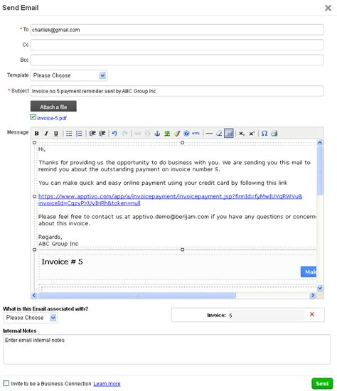 email  invoice dascoopinfo