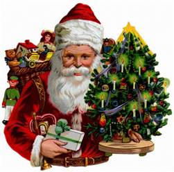 vintage santa claus cards and a holiday wallpaper the long goodbye