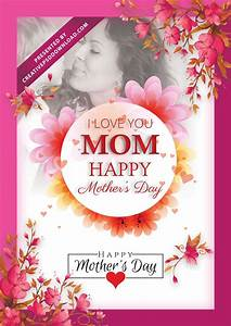 I Love You Mom Happy Mothers Day Flyer Template Psd Free ...