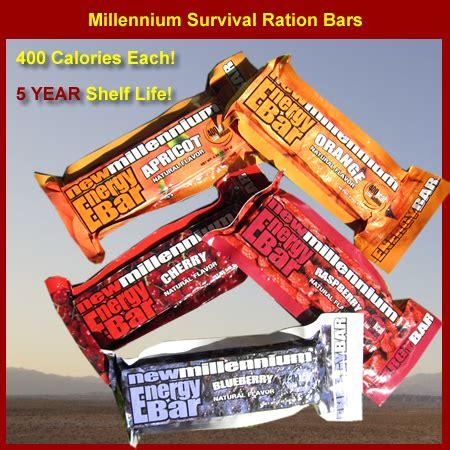 millennium survival ration bars millennium